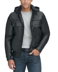 Wilsons Leather - Patch Pocket Hooded Faux-leather Jacket - Lyst