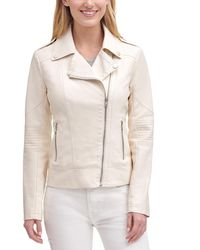 Wilsons Leather Faux-leather Moto Jacket - White