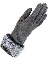 Wilsons Leather - Micro-velvet Touchpoint Glove W/ Faux Fur Cuff - Lyst