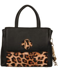 Wilsons Leather - Marc New York Mini Faux-leather Satchel W/ Flap And Leopard Print - Lyst