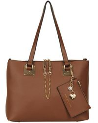 Wilsons Leather - Mia Faux-leather Tote With Wristlet - Lyst