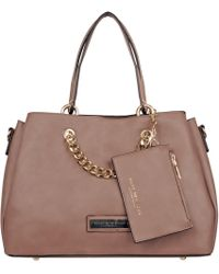 Wilsons Leather - Marc New York Faux-leather Satchel W/ Wristlet & Hanging Chain - Lyst