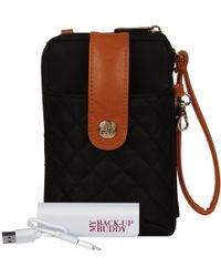 Wilsons Leather - Ready Set Go Crossbody Nylon Wallet - Lyst