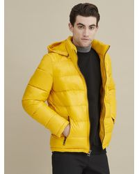 Wilsons Leather Heavyweight Puffer With Removable Hood - Yellow