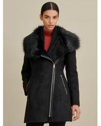 Wilsons Leather - Faux-shearling Asymmetric Coat - Lyst