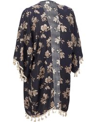 Wilsons Leather - Fringe Floral Wrap - Lyst