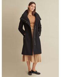 Wilsons Leather - Asymmetric Hooded Wool Coat - Lyst
