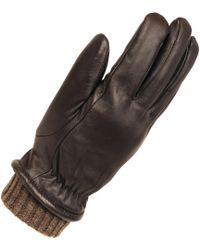 Wilsons Leather | Heather Knit Leather Glove W/ Elastic Knit Cuffs | Lyst