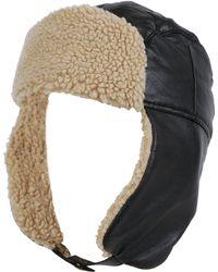 b862eab9 Wilsons Leather - Genuine Leather Trapper Hat W/ Faux-sherpa Trim - Lyst