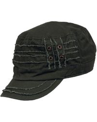 Wilsons Leather Distressed Fully Lined Cadet Cap - Green