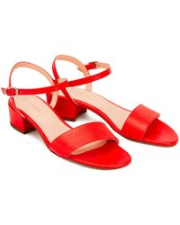 NINE TO FIVE - Strappy Sandal Sul Lipstick - Lyst