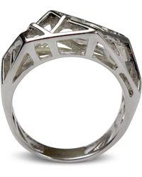 Bellus Domina - Hexa White Gold Ring - Lyst