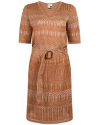 STUDIO MYR Early Spring Tunica Dress With Belt - Brown