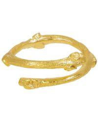 Ottoman Hands - Twist Branch Gold Ring - Lyst
