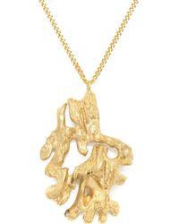 Loveness Lee Chinese Zodiac Monkey Horoscope Gold Pendant Necklace - Metallic
