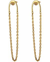 Irena Chmura Jewellery - Stormy Diamond Arc & Chain Earrings - Lyst