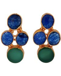 Carousel Jewels - Oval & Circle Aventurine & Green Onyx Earrings - Lyst