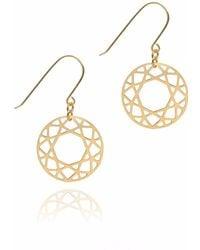 Myia Bonner - Gold Brilliant Diamond Drop Earrings - Lyst