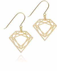 Myia Bonner - Gold Classic Diamond Earrings - Lyst