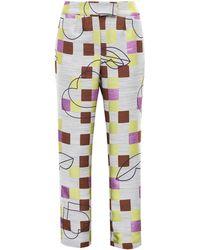 Acephala - Custom Made Jacquard Trousers - Lyst