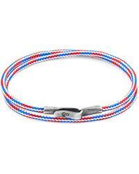 Anchor & Crew Project-rwb Red White & Blue Liverpool Silver & Rope Bracelet - Metallic