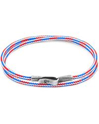 Anchor & Crew - Project-rwb Red White & Blue Brighton Silver & Rope Bracelet - Lyst