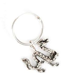 Serge Denimes Silver Dragon Earring - Metallic
