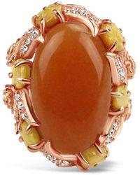 Bellus Domina Gold Plated Aventurine Cocktail Ring - Multicolour