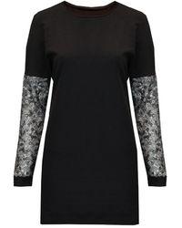 Sophie Cameron Davies Sweatshirt Dress Black Sequin Sleeve