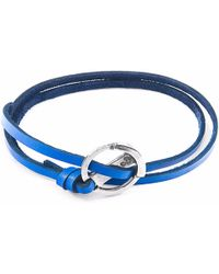 Anchor & Crew | Royal Blue Ketch Silver And Leather Bracelet | Lyst