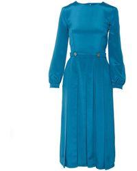 SHOPYTE - Egyptian Blue Silk Dress - Lyst