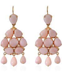 Emma Chapman Jewels - Coachella Pink Opal Chandelier Earrings - Lyst