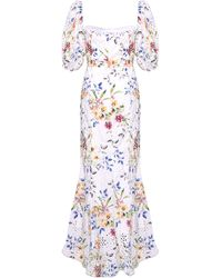 True Decadence White Floral Broderie Maxi Dress