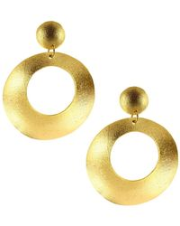 Ottoman Hands - Gold Statement Double Drop Earrings - Lyst