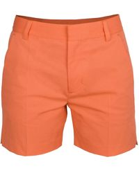 blonde gone rogue Sustainable Creased Shorts In Orange