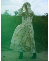 Klements Astrid Dress In Puzzle Print Silk - Multicolour