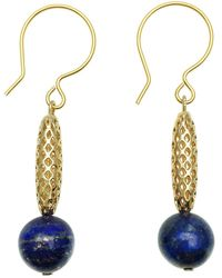 Farra Lapis Lazuli Simple Daily Earrings - Blue