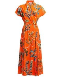 TOMCSANYI Cselle Multi Slits Wrap Dress - Red