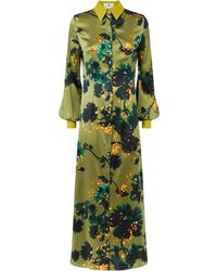 Klements - Warsaw Dress In Gothic Floral Ochre - Lyst