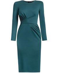 Rumour London Rebecca Green Soft Jersey Dress With Waistline Drapes