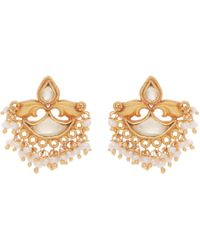 Carousel Jewels - Mother Of Pearl And Crystal Earrings - Lyst
