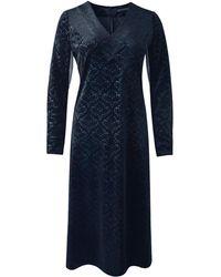 Xllullan - Laila V-neck In Black Jacquard Velvet - Lyst