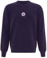 blonde gone rogue Disco Cult Organic Sweatshirt In Navy - Blue