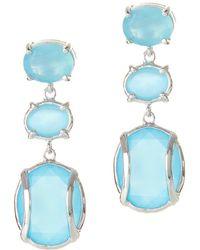 Alexandra Alberta - Lexington Blue Chalcedony Earrings - Lyst