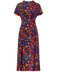 TOMCSANYI Dandar Open Back Tie Dress 'doodle Flower' - Red