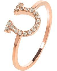 LÁTELITA London Sparkling Lucky Horseshoe Ring Rosegold - Multicolour