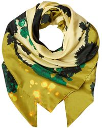 Klements - Square Scarf In Gothic Floral Ochre Print - Lyst