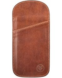 Maxwell Scott Bags - The Tan Rufeno Slim Leather Glasses Case - Lyst