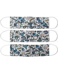 Rumour London Reusable Protective Cloth Masks With Integrated Filter In Liberty Floral Print - White