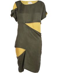 blonde gone rogue Sustainable Zip-me-up Dress In Green